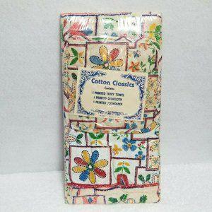 Vintage Kitchen Towel Set Cotton Classics New